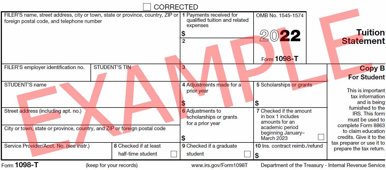 Form 1098-T Information - Student Portal